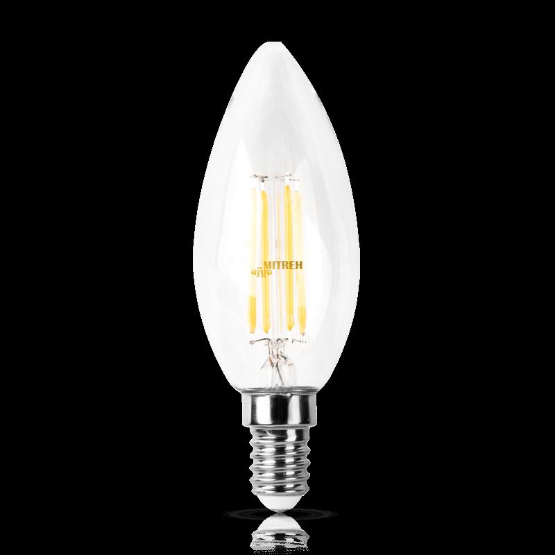 لامپ ال ای دی فیلامنتی شمعی ۴ وات