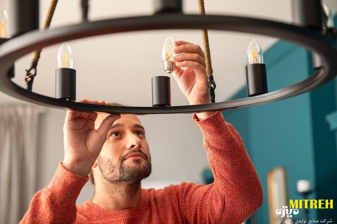 خرید لامپ لوستر ال ای دی