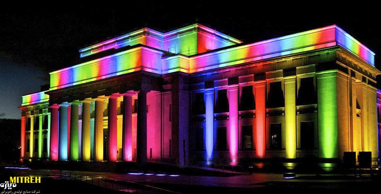 نورپردازی نما | لامپ برای نمای ساختمان