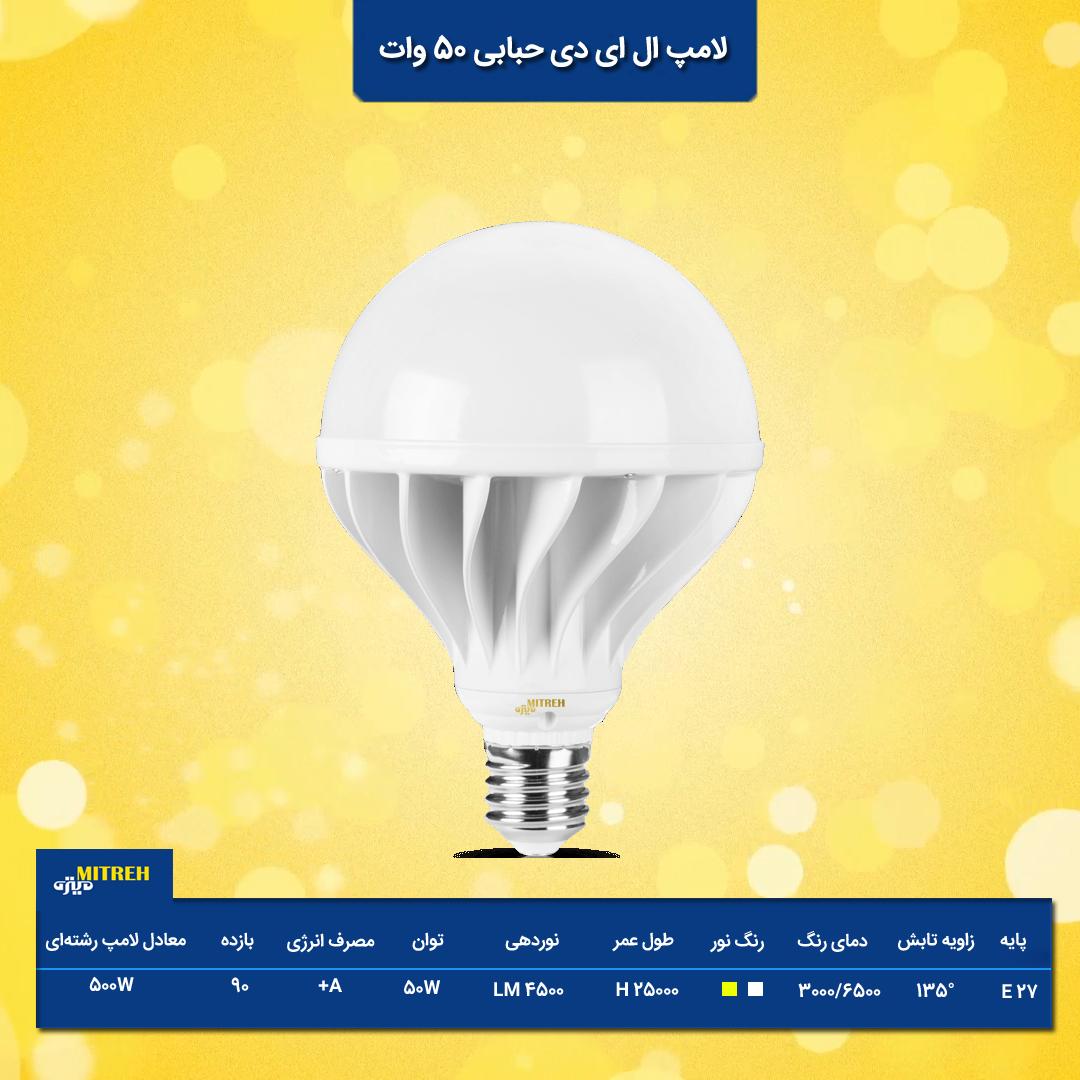 خرید لامپ حبابی 50