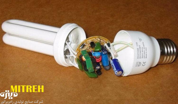آموزش نحوه تعمیر لامپ کم مصرف