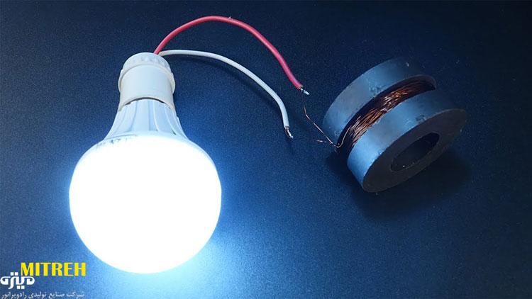 روشن کردن لامپ با آهنربا و سیب زمینی + فیلم