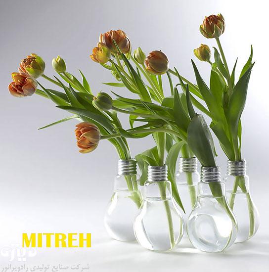 ایده های جالب برای لامپ های بازیافتی ؛ کاردستی با لامپ