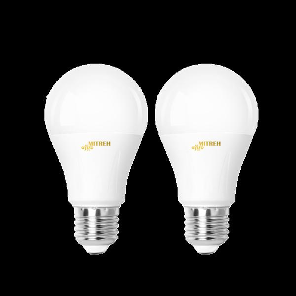 لامپ ال ای دی ۹ وات حبابی بسته ۲ عددی