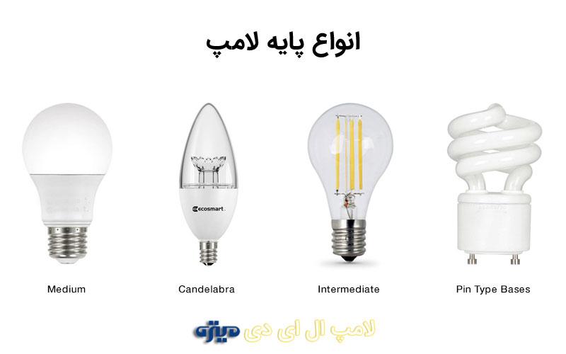 انواع-پایه-لامپ