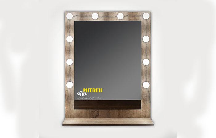 آموزش ساخت آینه چراغ دار هالیوودی یا خرید آینه چراغ دار