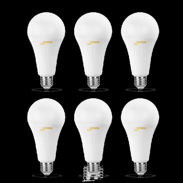 لامپ ال ای دی ۹ وات حبابی بسته ۶ عددی